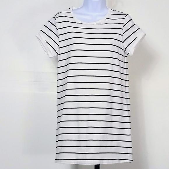 Lulu's Dresses & Skirts - LuLus Cafe Society Black & Cream Striped Dress S
